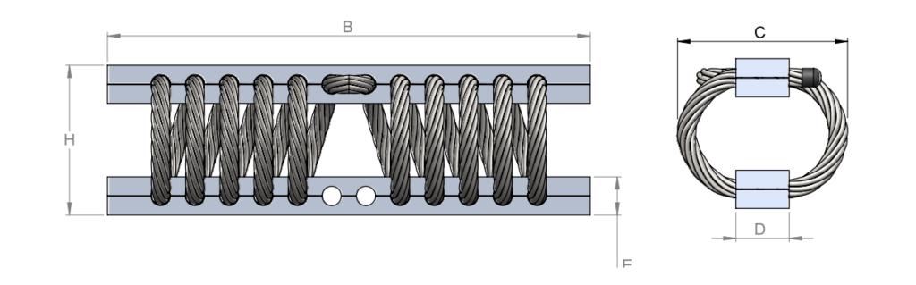 тросовый амортизатор silentflex